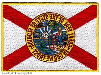 FLORIDA STATE FLAG embroidered iron-on PATCH EMBLEM applique