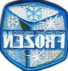 """""""FROZEN"""" ICE CUBE w/SNOWFLAKES- Iron On Embroidered Patch /S"""