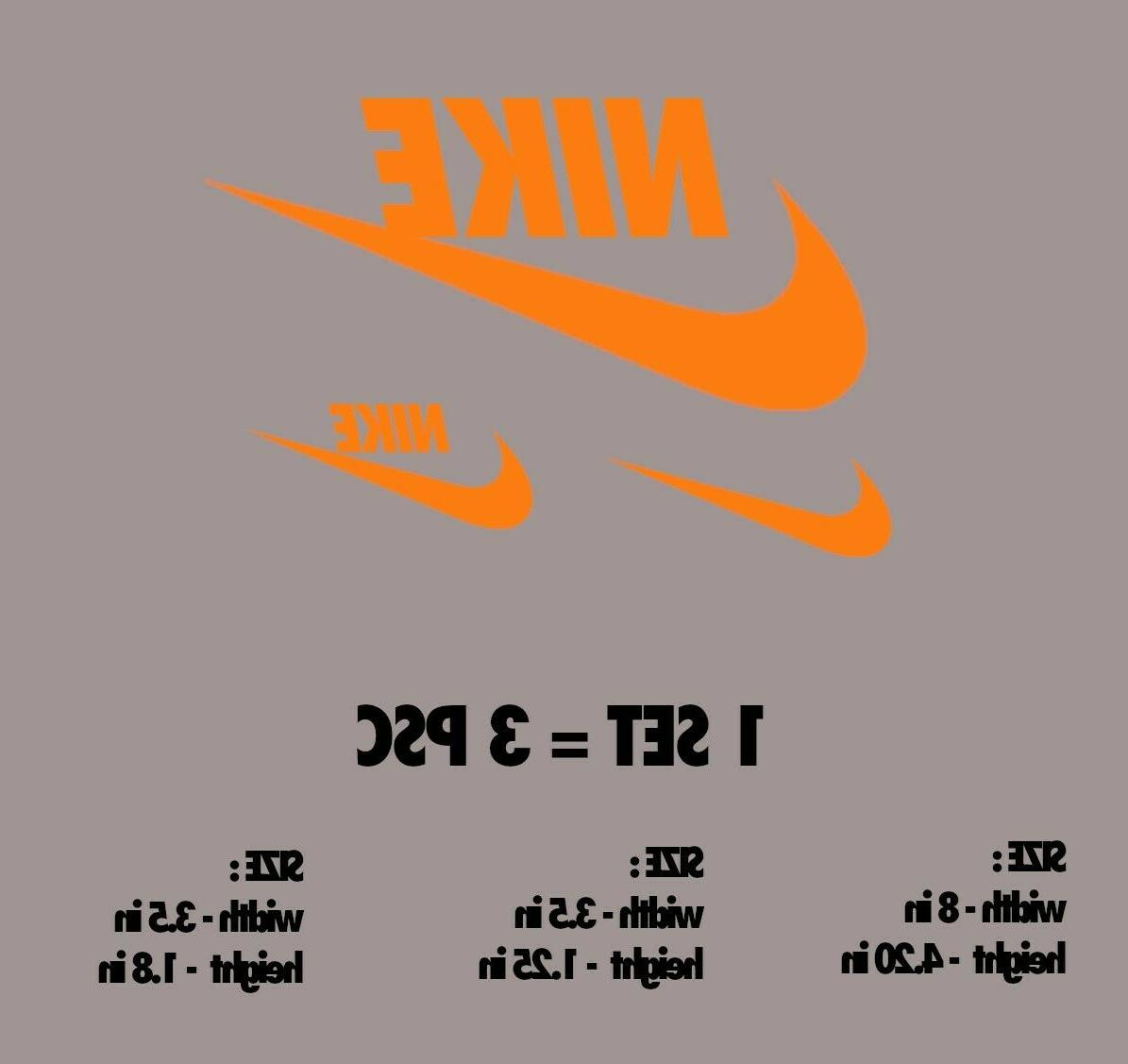 GLOW Nike Iron-On DIY T-Shirt Clothing Sticker