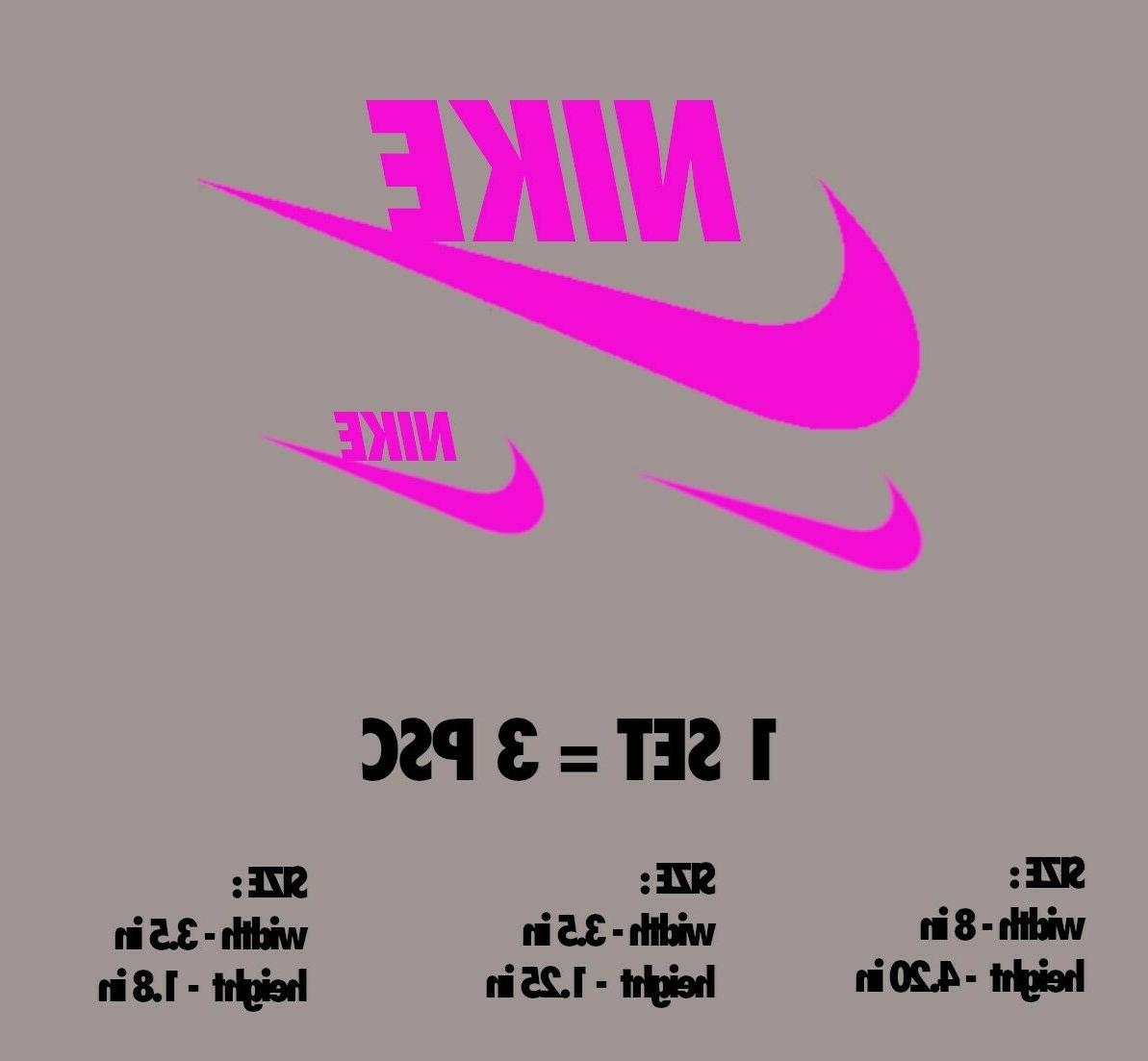 GLOW THE DARK Nike LOGO DIY Clothing Sticker