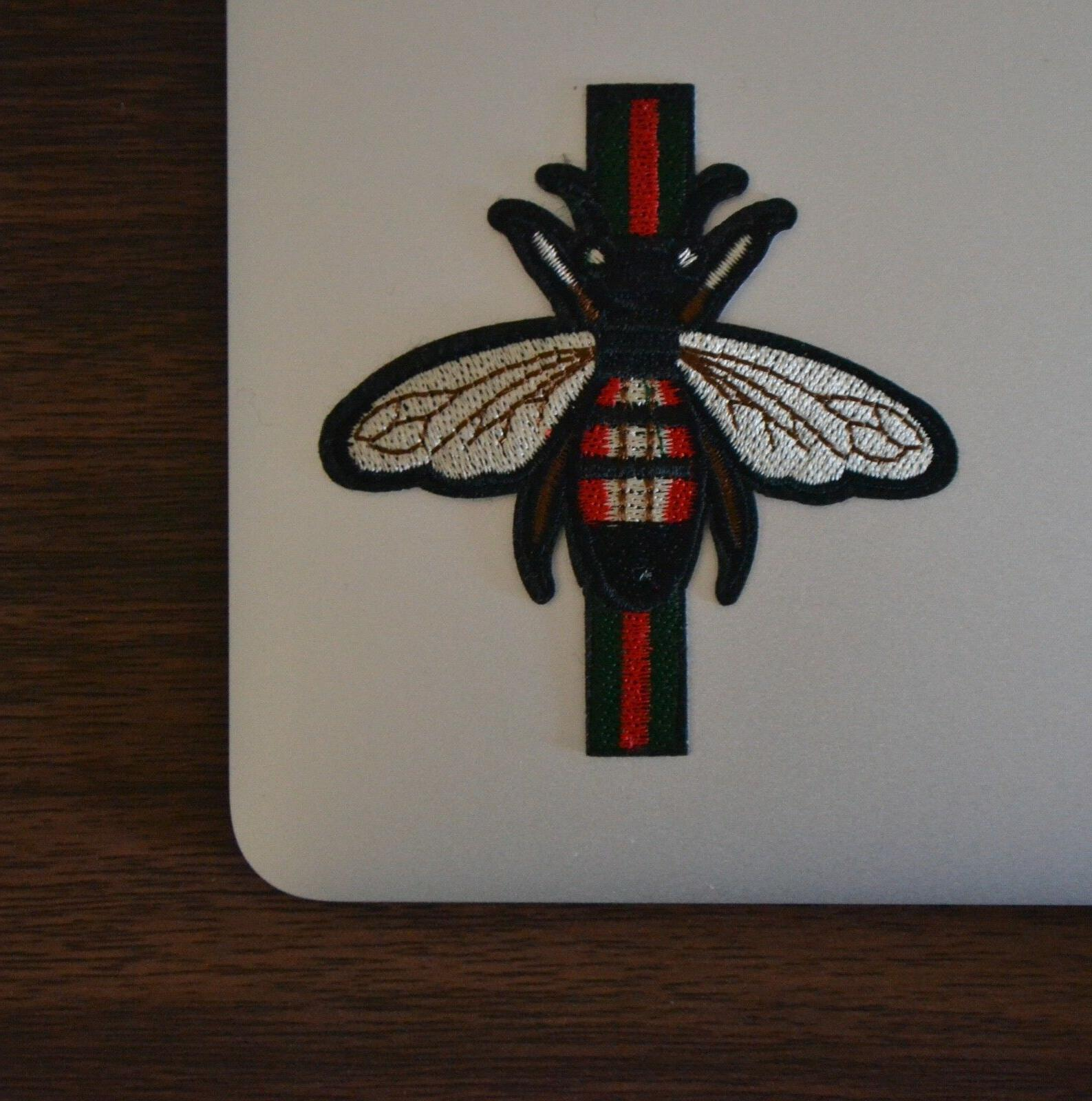 gucci style bee stripe iron on applique