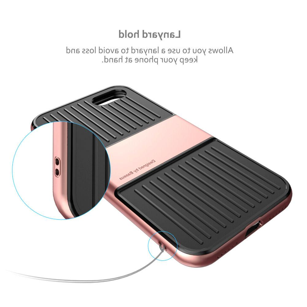 For iPhone 8 Plus 2020 Case Suitcase Glass