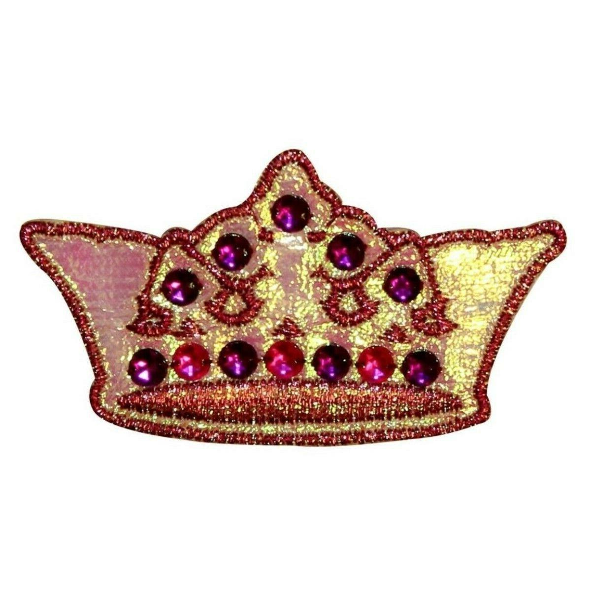 jeweled crown patch pretty princess queen costume