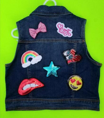 JoJo Siwa iron on patches, 7 patches Embroidered applique pa