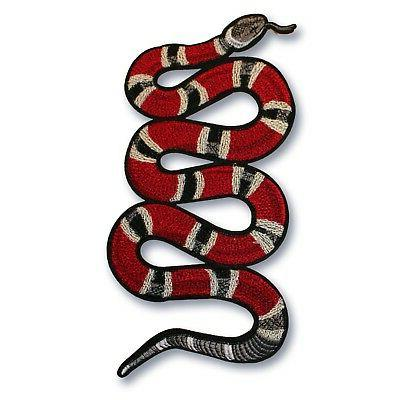 Large snake patch, Iron-On or Sew-on. Gucci style. Shipped f