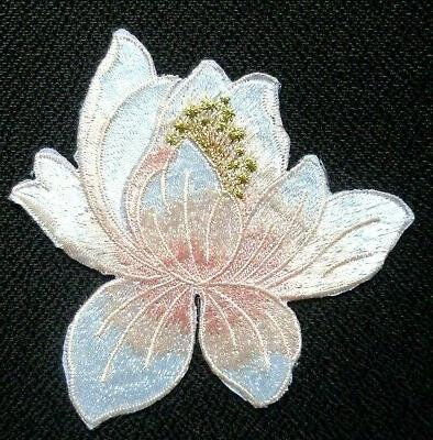 Lotus Applique Patch pictured 3 1/4 inch