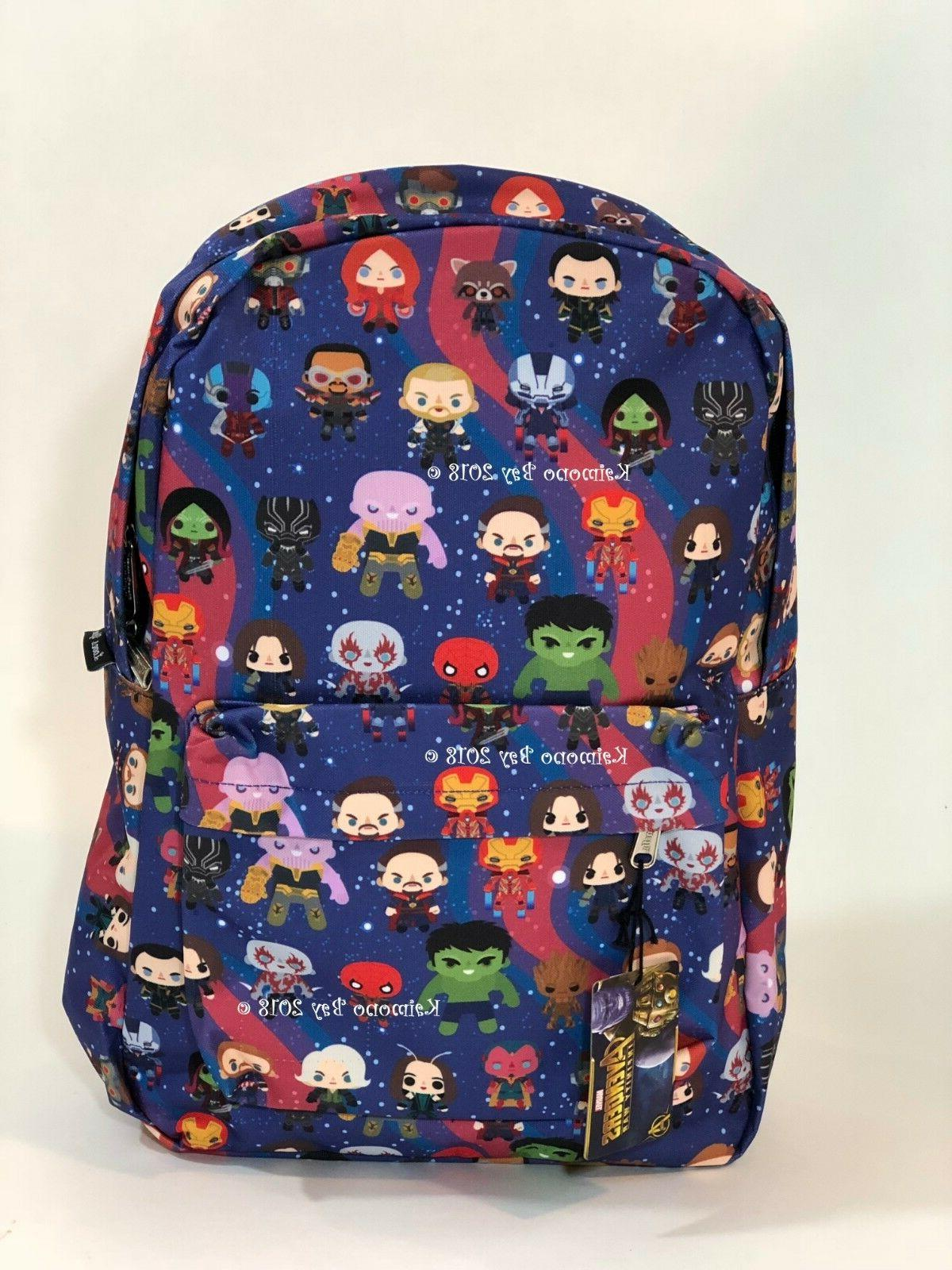 Loungefly Marvel Avengers Backpack Bookbag Thor Iron Man Spi