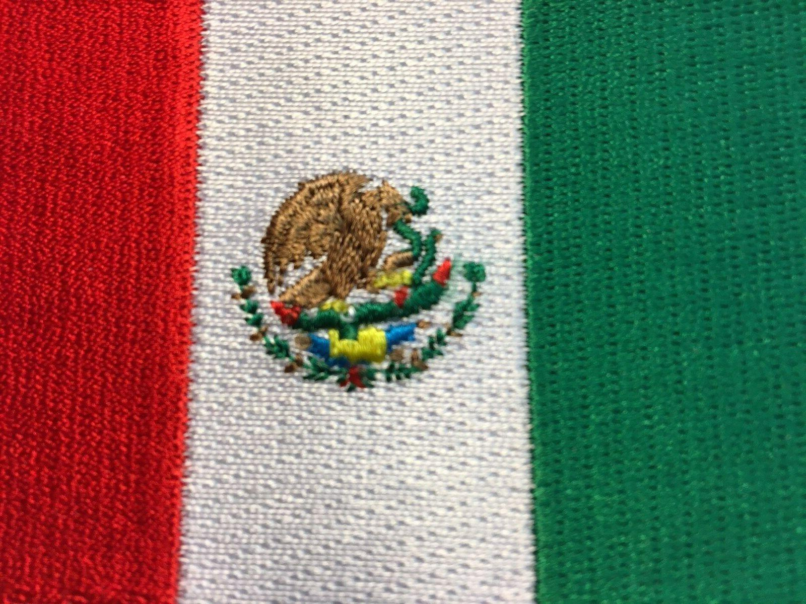 MEXICAN FLAG PATCH SEW-ON EMBROIDERED - HI