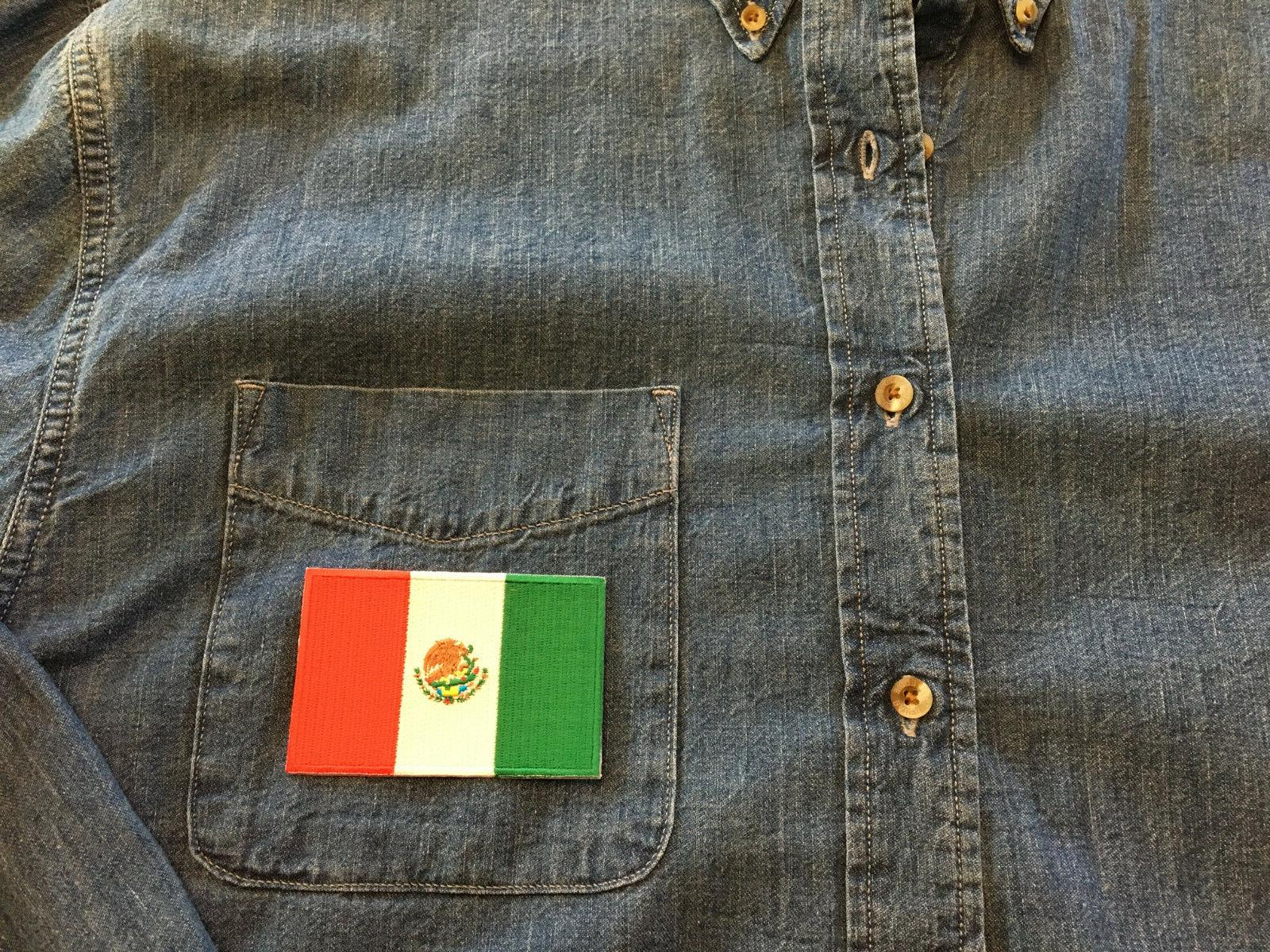 MEXICAN PATCH SEW-ON EMBROIDERED MEXICO -