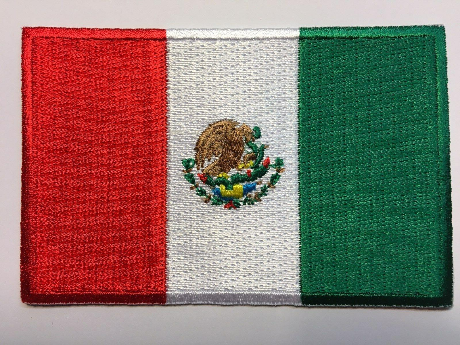 MEXICAN PATCH IRON-ON SEW-ON EMBROIDERED EMBLEM -