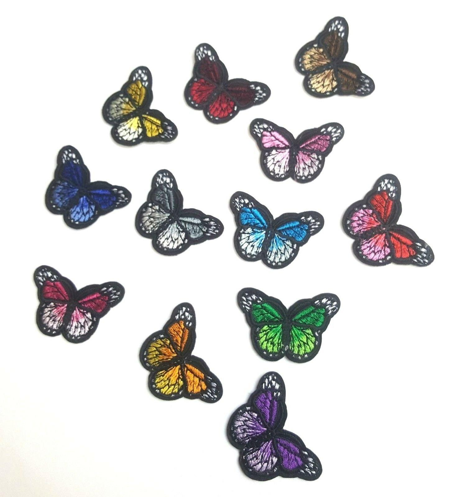 monarch butterfly mini small embroidered patch iron