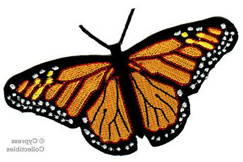 MONARCH BUTTERFLY PATCH new IRON-ON EMBROIDERED APPLIQUE bea