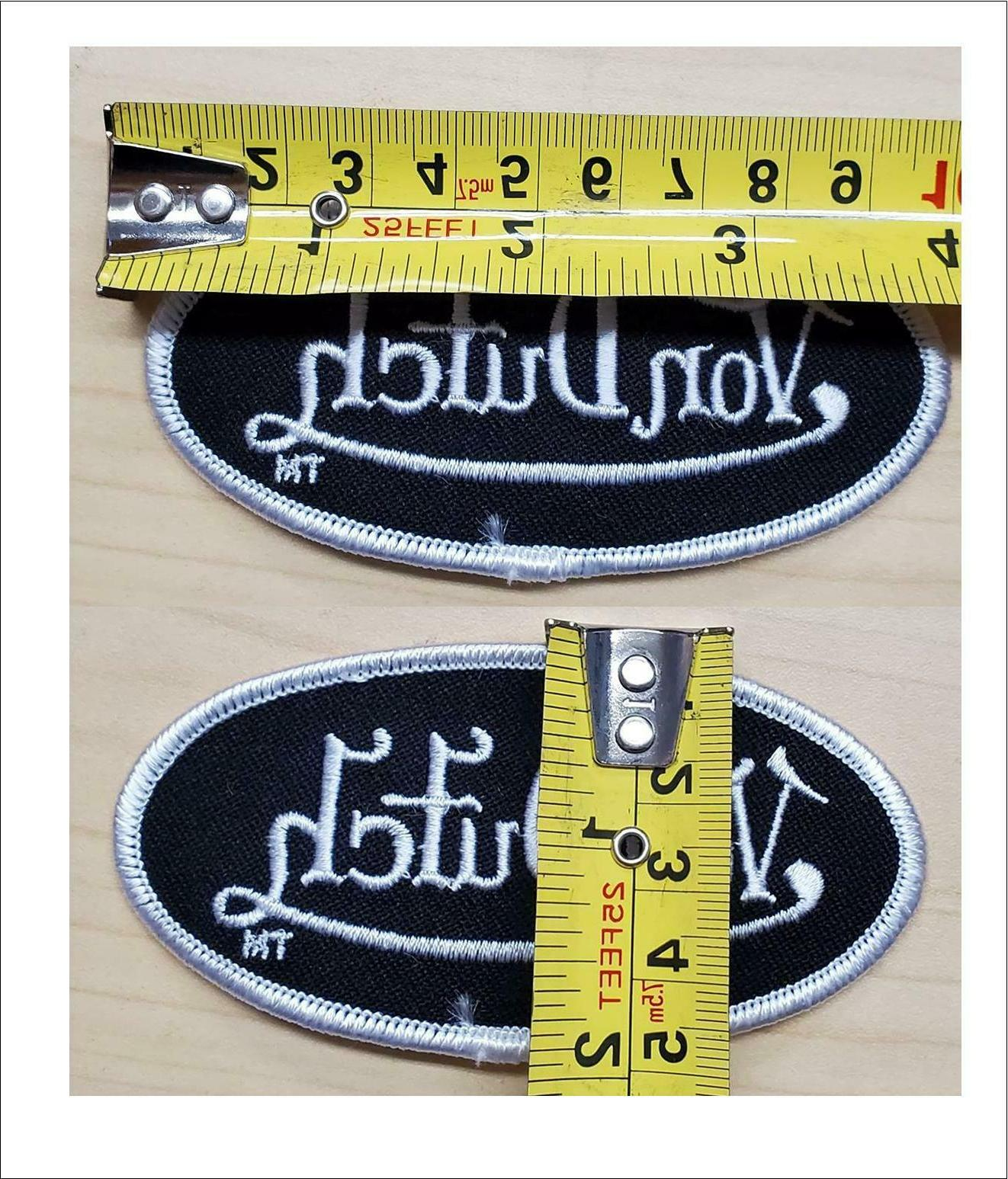 New DUTCH OVAL PATCH Black Sew or Iron on