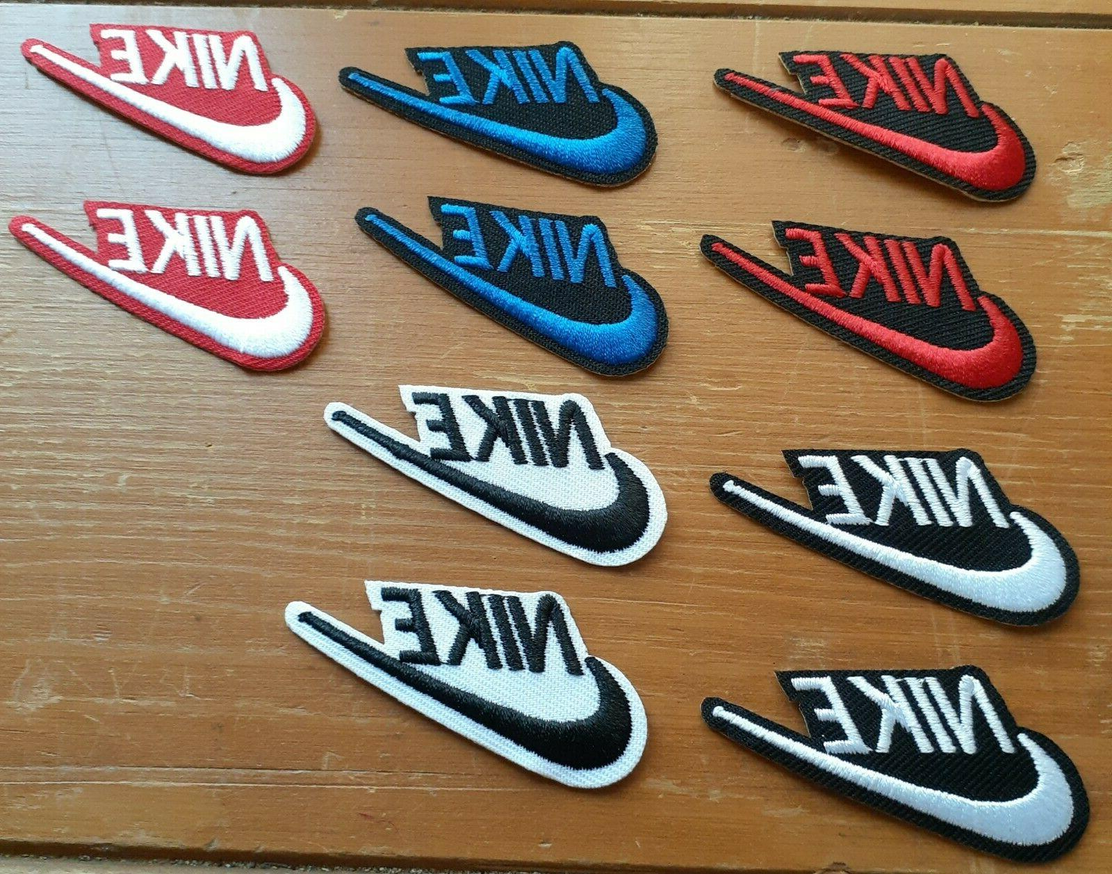 nike 10 patch lot new iron on