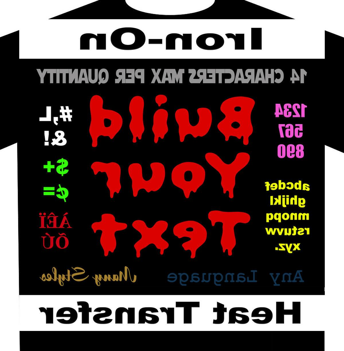 one color only build your text iron