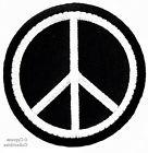 PEACE SIGN iron-on patch WOODSTOCK SUMMER OF LOVE black EMBR