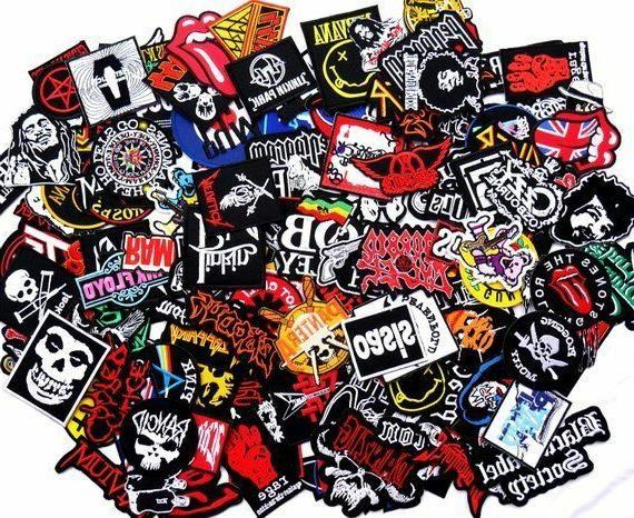 Random Rock Band Patches on Music Punk Roll Heavy
