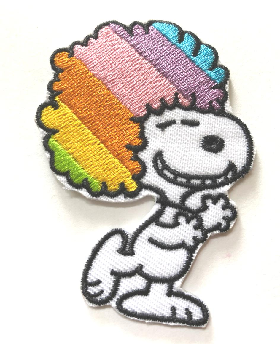 snoopy cool embroidered iron on patch 2x2