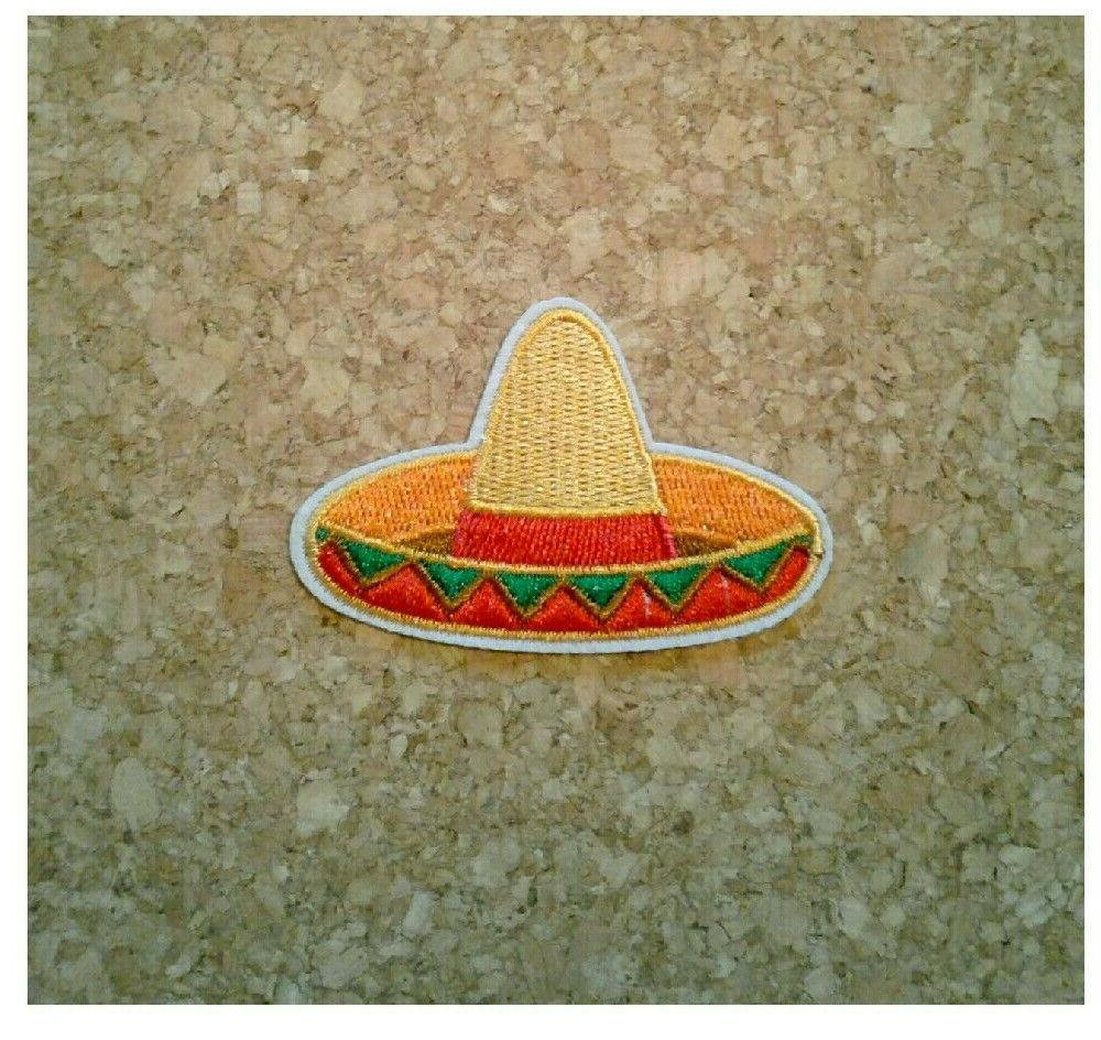 sombrero embroidered iron on patch mexican hat