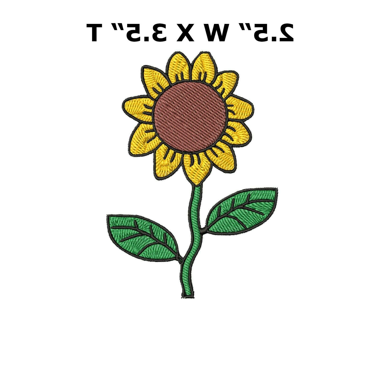 sunflower iron on patch embroidered clothes clothing garment