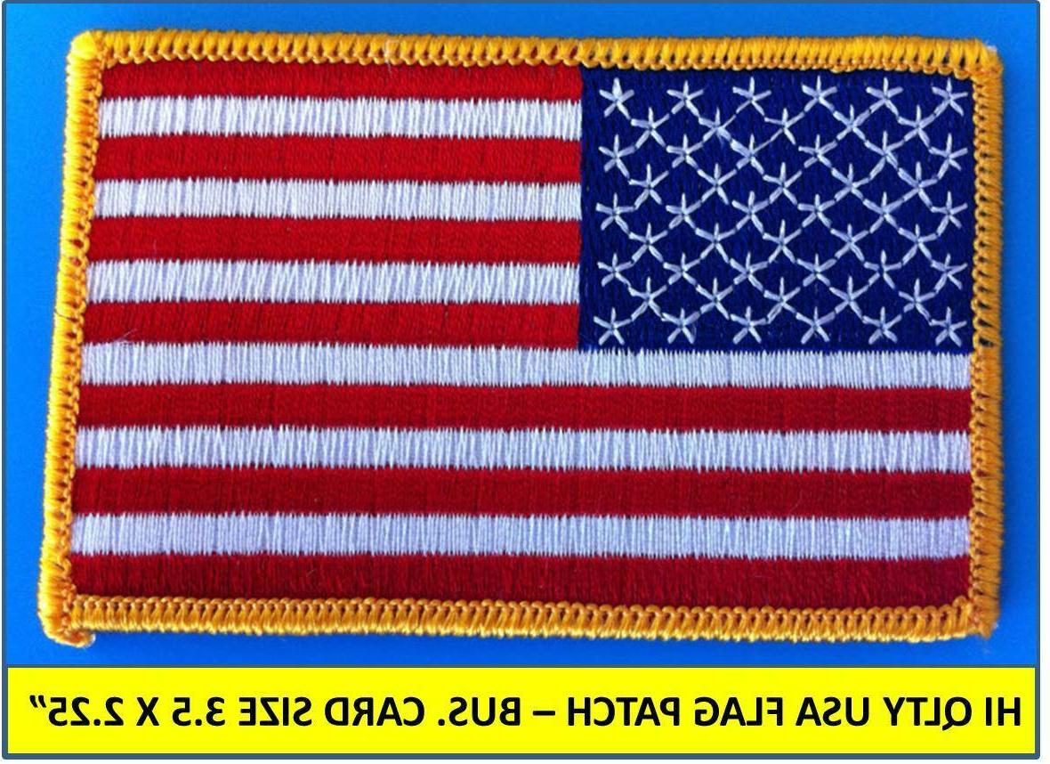 usa american flag embroidered patch iron on
