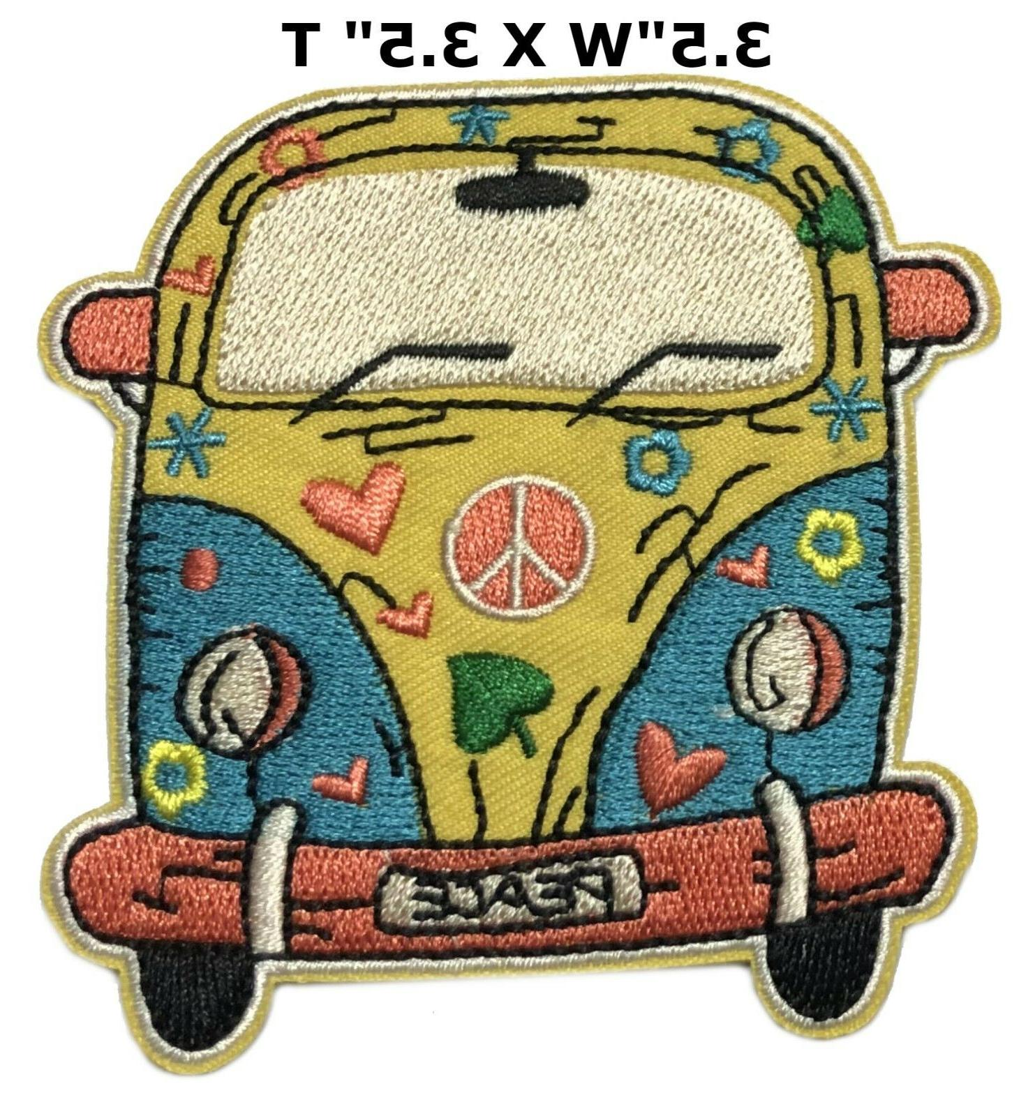 woodstock patch iron on peace love music