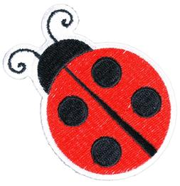 Lady Bug Iron On Patch - 3x2.3 inch by Ivamis Trading P5544