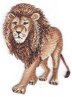LION - JUNGLE - ZOO ANIMAL - IRON ON EMBROIDERED PATCH - WIL