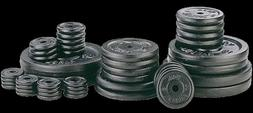 """LOT OF 1"""" Standard & 2"""" Olympic Weight Plates! Barbells! Rub"""
