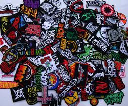 Lot of RANDOM Embroidered Iron On Patch Band Music Punk Rock