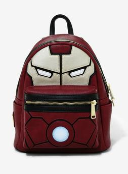 MARVEL LOUNGEFLY IRON MAN LIGHT UP ARC REACTOR MINI BACKPACK