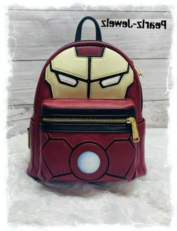 Loungefly Marvel Iron Man Light-Up Arc Reactor Mini Backpack
