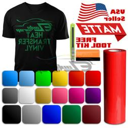 "Matte Heat Transfer Vinyl HTV Sheets T-Shirt 20"" Wide Roll I"