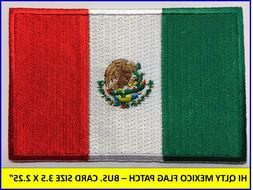 MEXICAN FLAG PATCH IRON-ON SEW-ON EMBROIDERED MEXICO EMBLEM