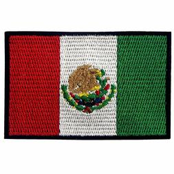 EmbTao Mexico Flag Embroidered Patch Mexican Iron On Sew On