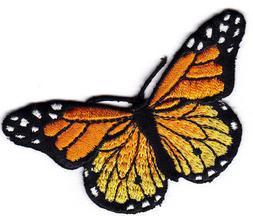MONARCH BUTTERFLY- BUTTERFLIES - Iron On Embroidered Appliqu