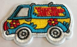 mystery machine embroidered patch sew iron on