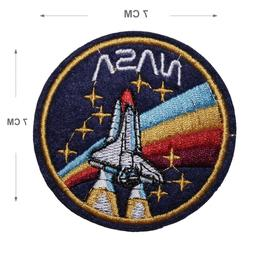 NASA Embroidered Iron On / Sew On Patches Motif Applique Spa