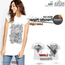 New Laser Iron-On Heat Transfer Paper, For Light fabric, 10