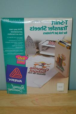 NEW Sealed Avery - #6271 - T-SHIRT IRON ON TRANSFER SHEETS F