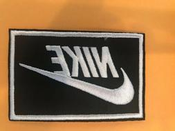 "Nike Black & White iron on Patch -  patches new Appx 3"" x 2"""
