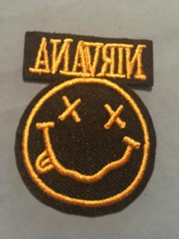 """Nirvana Embroidered Iron/Sew ON Patch 2""""x 1.50"""" Rock Met"""