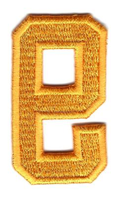 """NUMBER-Golden Yellow  Number """"9""""  - Iron On Embroidered Appl"""