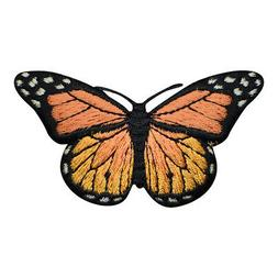 """Orange Butterfly Applique Patch - Insect, Bug Badge 2-7/8"""""""