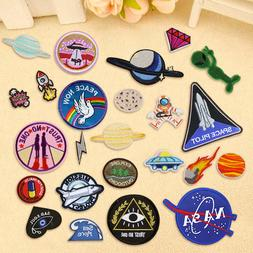Outer Space Planet Embroidery Sew On Iron On Patch Badge Fab