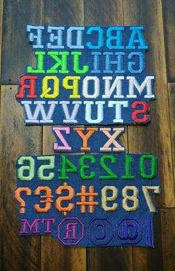 Patch Iron-On Birthday Letters Tag Name Embroidered Applique