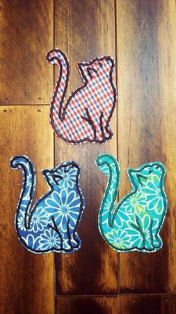 Patch Iron-On or Sew-On Cat Fabric Embroidered Applique