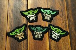 Patch Iron-On set of 5 Master Yoda Baby Applique Embroidered
