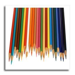 3dRose Coloured Pencils, Iron On Heat Transfer, 8 by 8-inch,