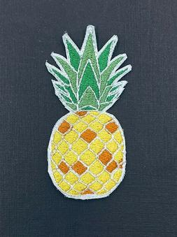 Pineapple with Iron-on Iron On Handmade for Apparel Bag Acce